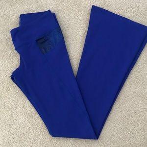 Blue Python Splits59 Raquel Flare yoga pants